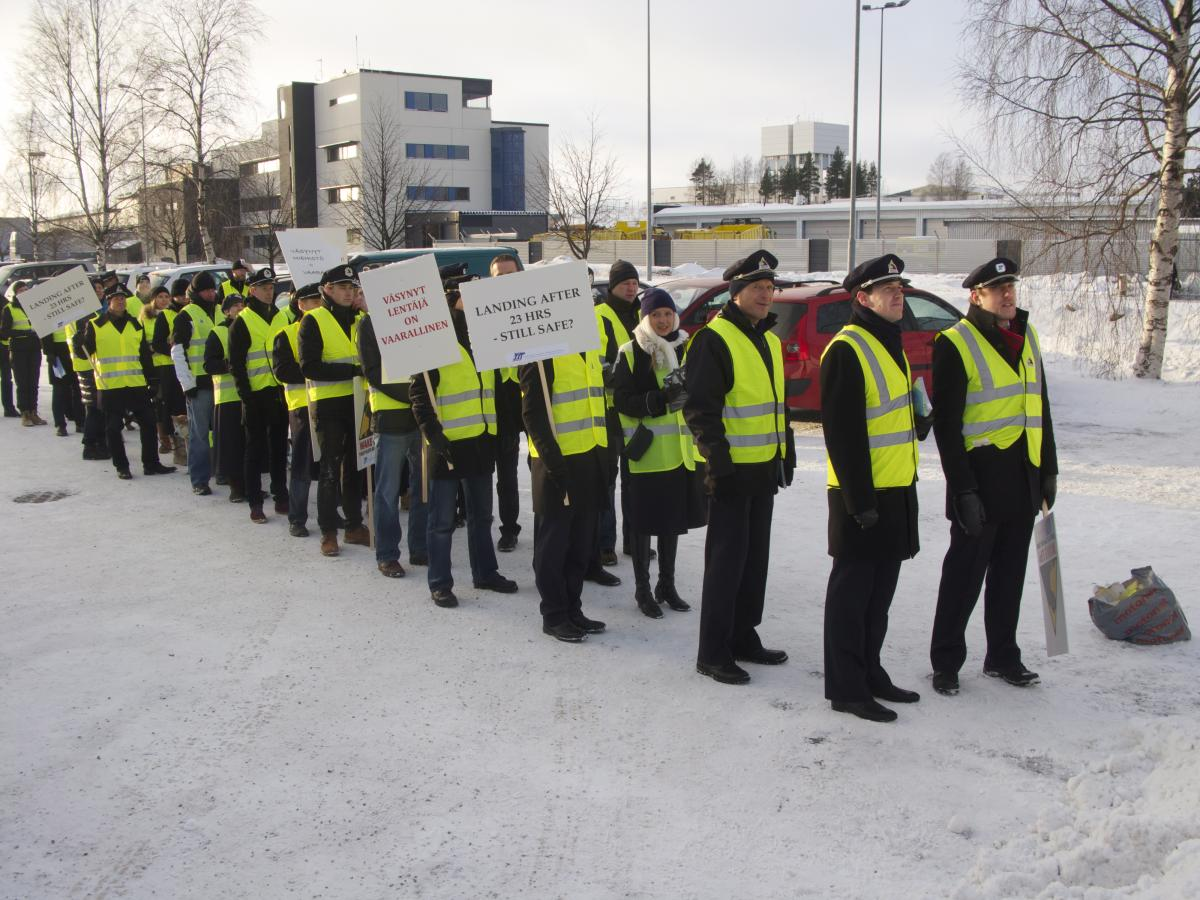 Walkout for Safety, Finland, 22 Jan