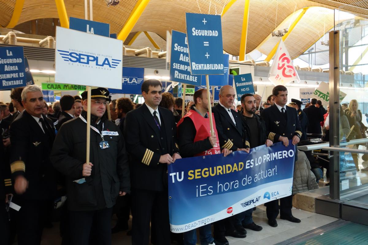 Walkout for safety, Spain, 22 Jan